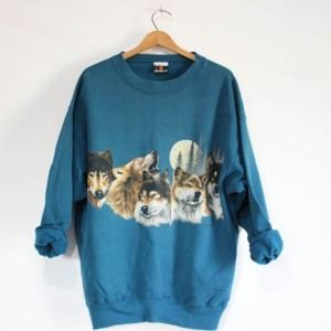 Vintage Wolf Wilderness Sweatshirt